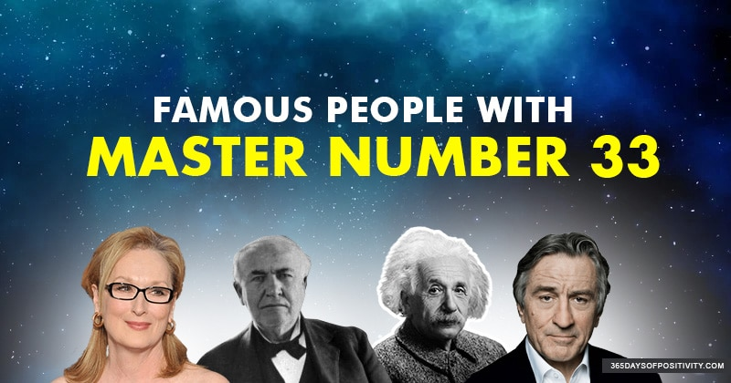 master number 33 famous people